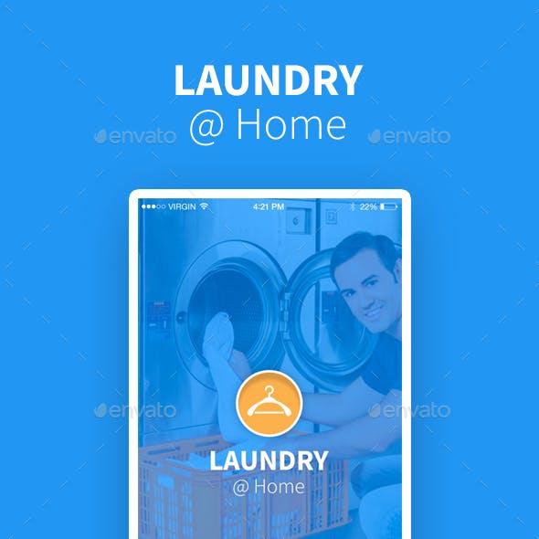 Laundry @ Home App UI Kit