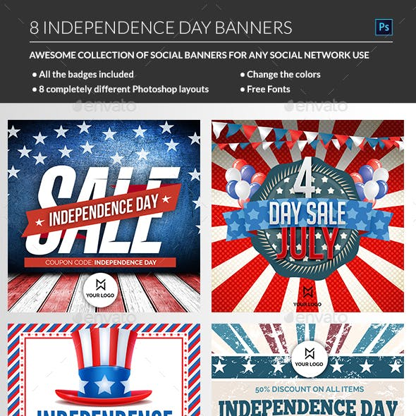 July 4th Banners