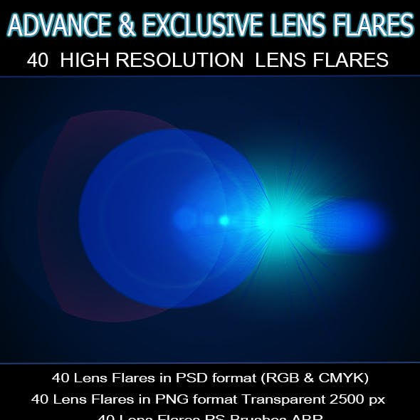 40 Lens Flares Full Pack Vol.1