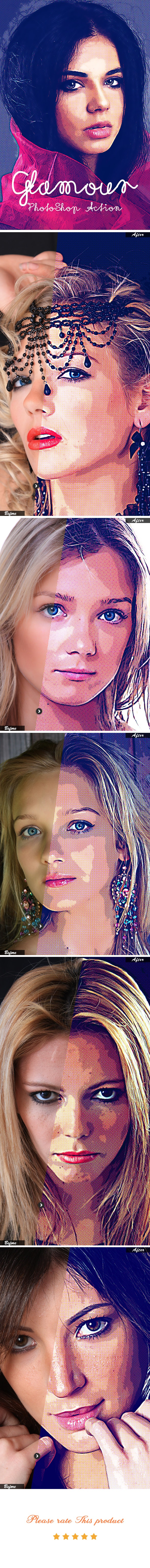Glamour Photoshop Action - Photo Effects Actions