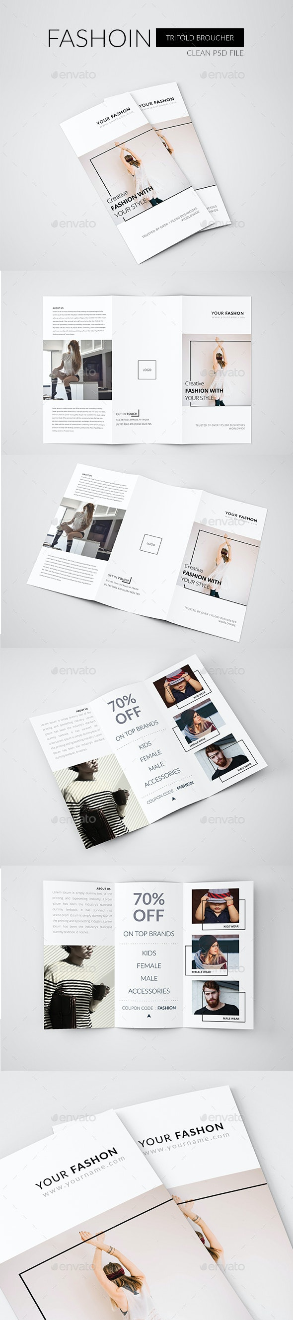 Fashion Trifold Brochure - Brochures Print Templates