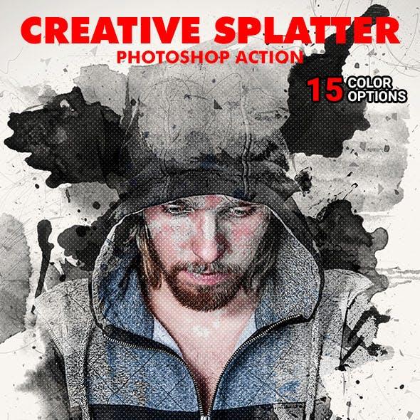 Creative Splatter Photoshop Action