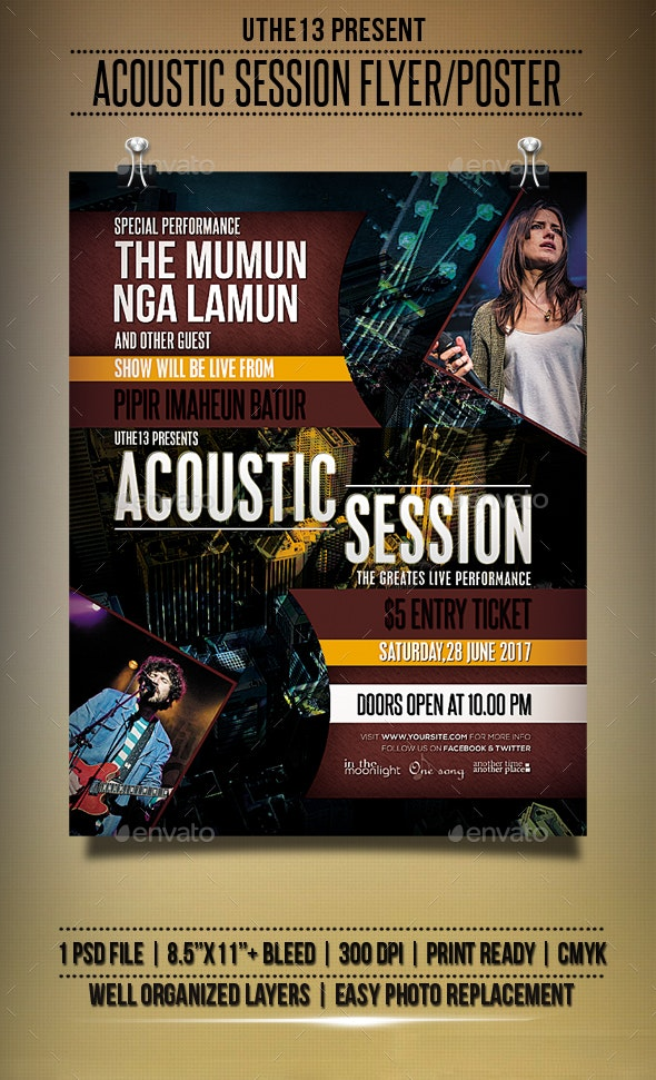Acoustic Session Flyers / Poster - Events Flyers