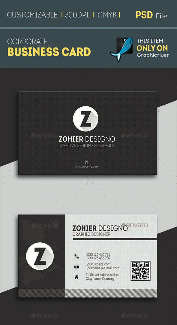 World Corporate Business Card - Corporate Business Cards