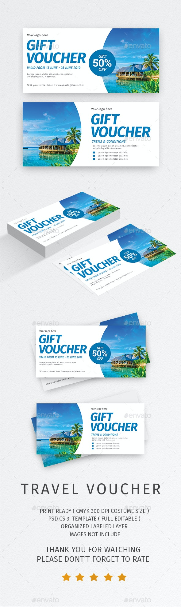 Travel Voucher - Loyalty Cards Cards & Invites