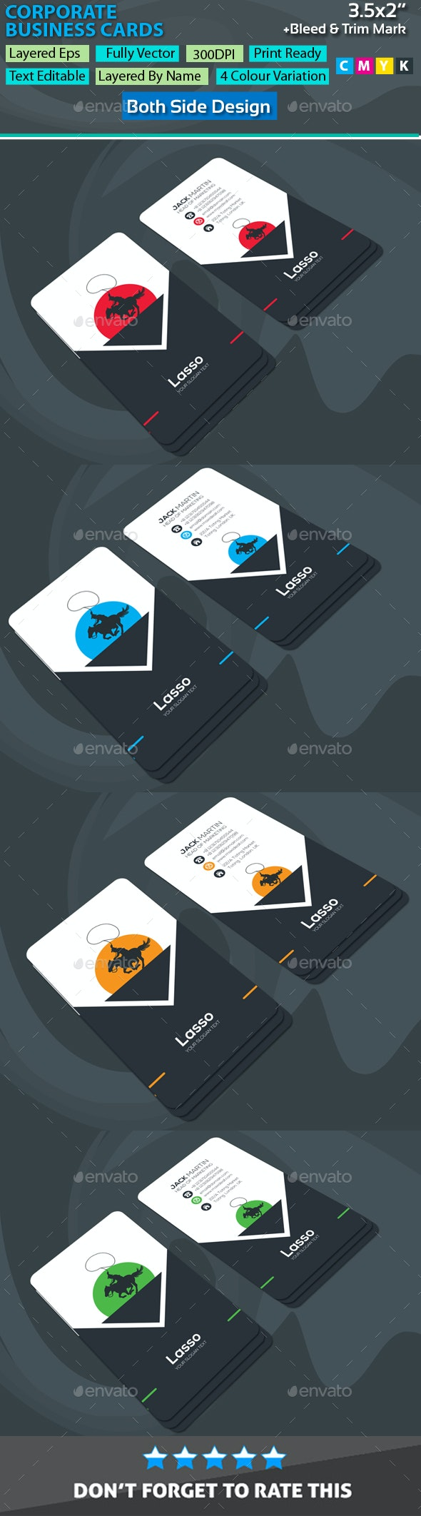 Lasso Corporate Business Cards - Corporate Business Cards