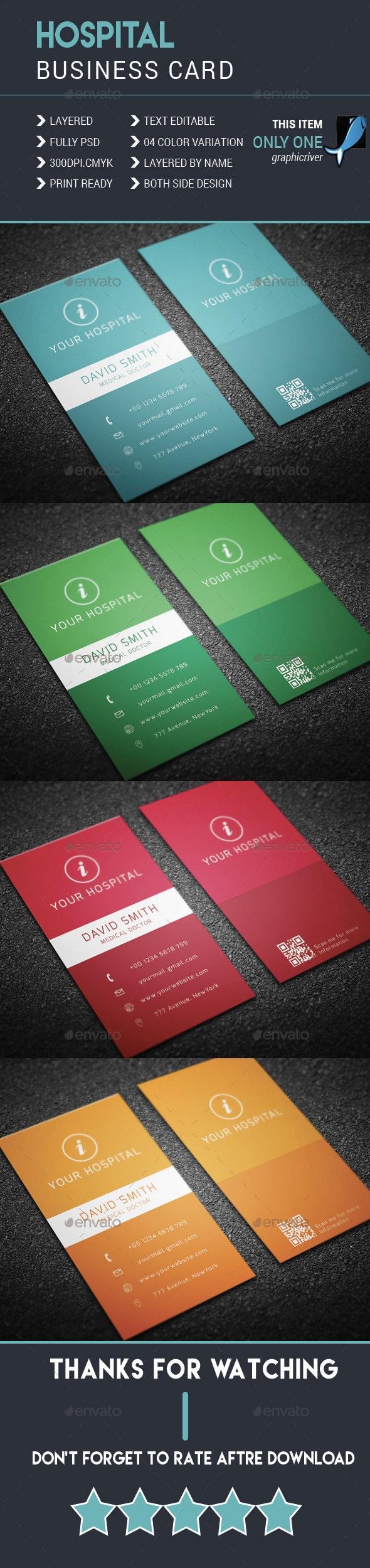 Hospital Business Card - Business Cards Print Templates