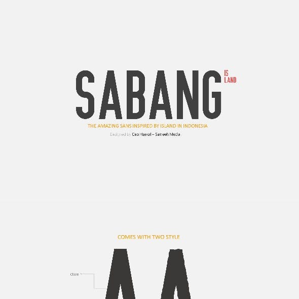 Sabang Island Typeface