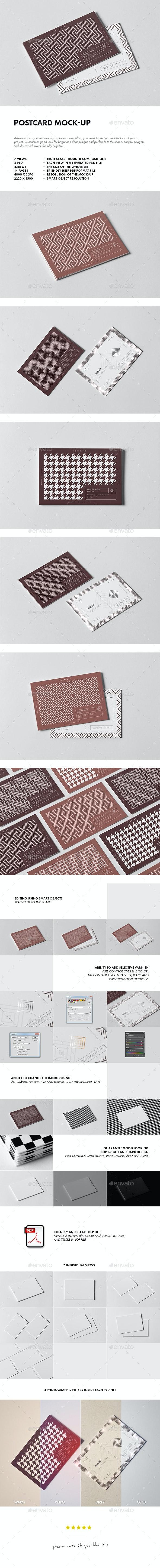 Postcard Mock-up - Business Cards Print