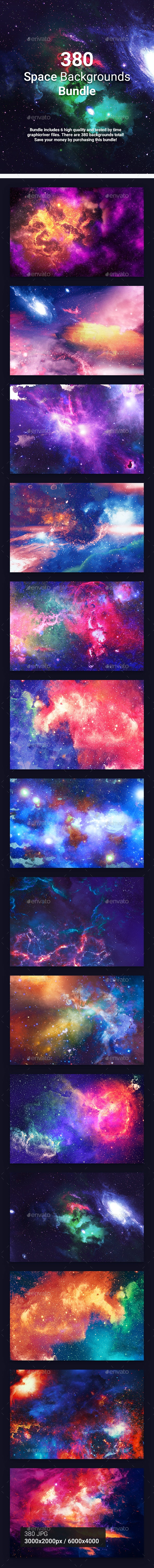 380 Space Backgrounds Bundle - Abstract Backgrounds