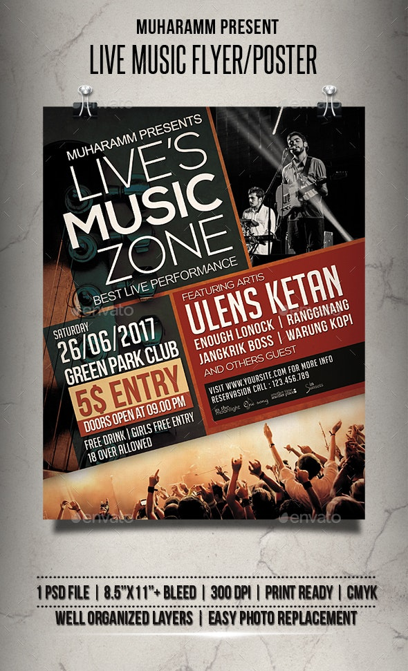 Live Music Flyer / Poster - Events Flyers