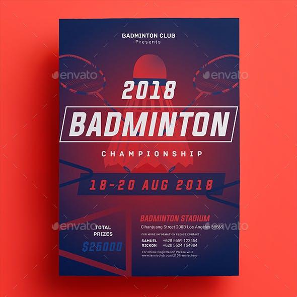 Badminton Championship Flyer