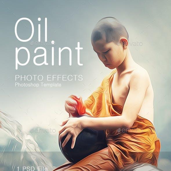 Oil Paint Photoshop Template
