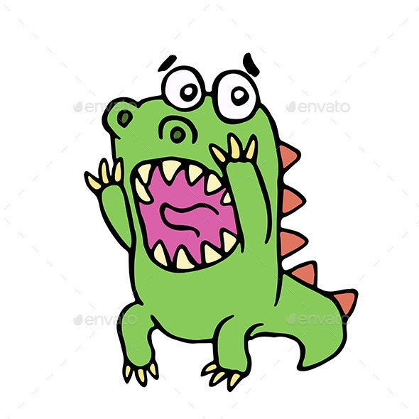 Scared Dinosaur - Animals Characters