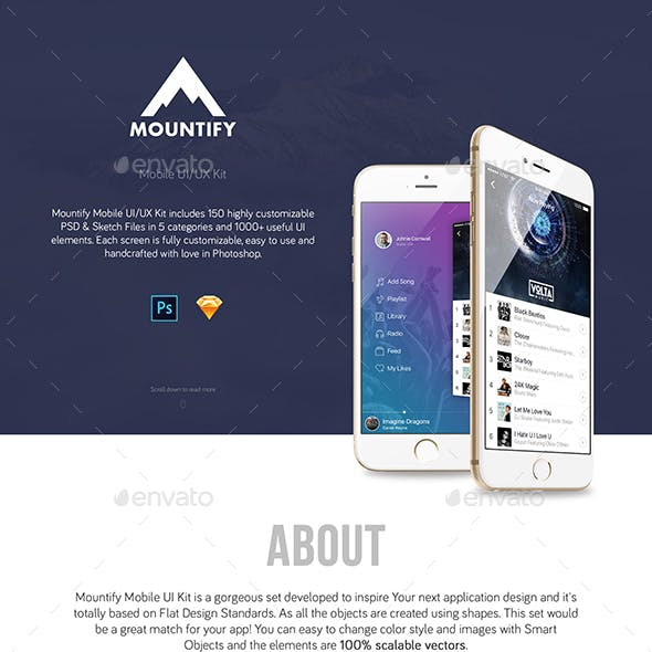 Mountify UI Kit - Sketch Version