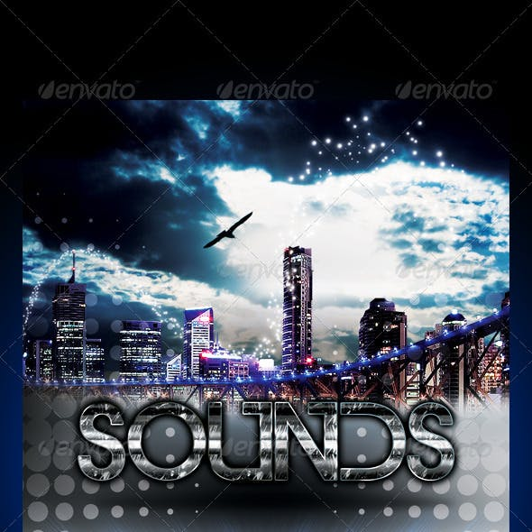 City Lights Party Flyer Template