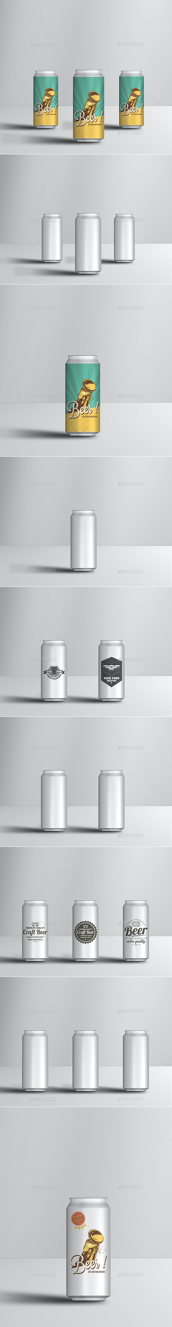 500ml Soda or Beer Can Mock-up - Food and Drink Packaging