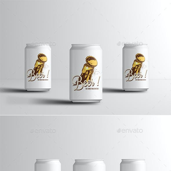 330ml Soda or Beer Can Mock-up
