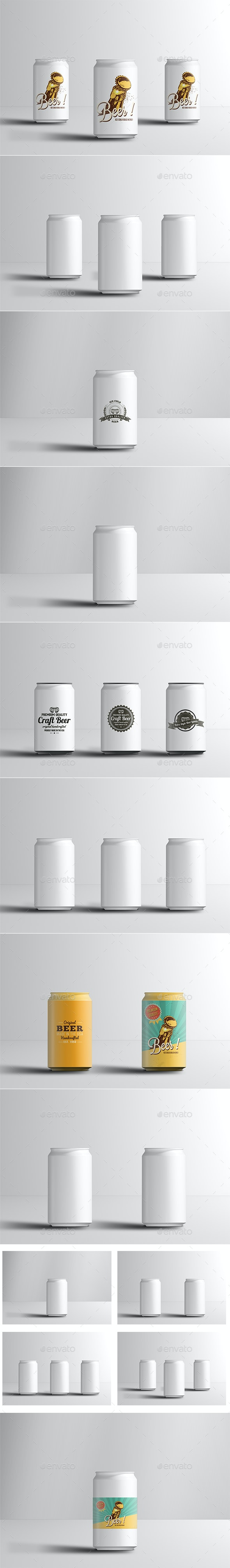 330ml Soda or Beer Can Mock-up - Food and Drink Packaging