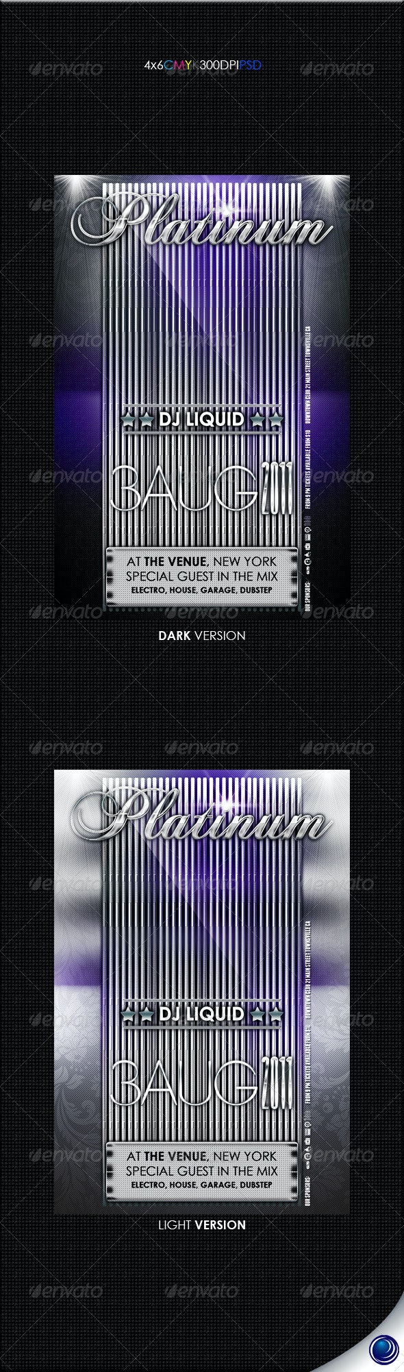 Elegant Metal Party Flyer Template - Clubs & Parties Events