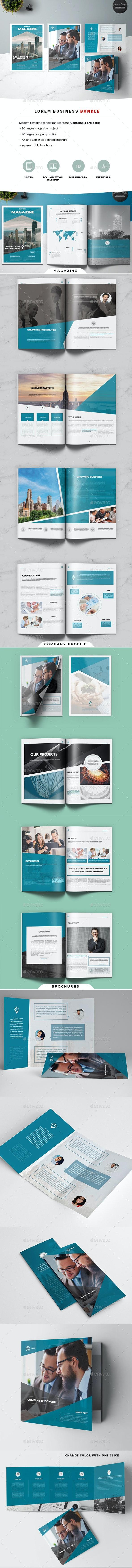 Lorem Business Bundle - Magazines Print Templates