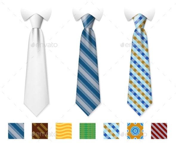 Neckties Vector Templates - Man-made Objects Objects