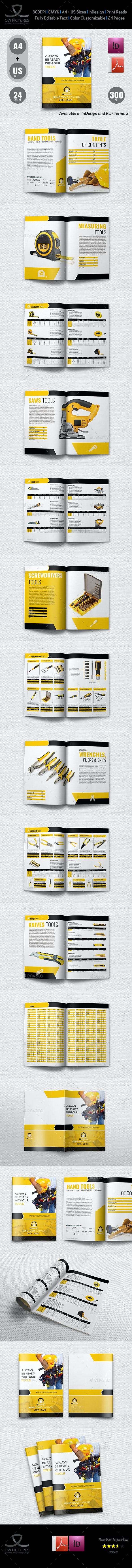 Hand Tools Products Catalog Brochure Template - 24 Pages - Catalogs Brochures