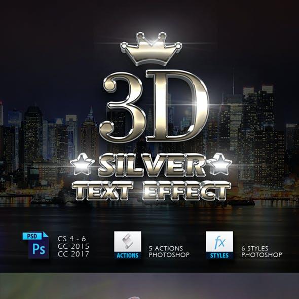 3D Silver Text Effect