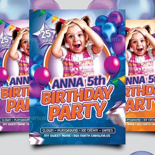 Kids Birthday Flyer