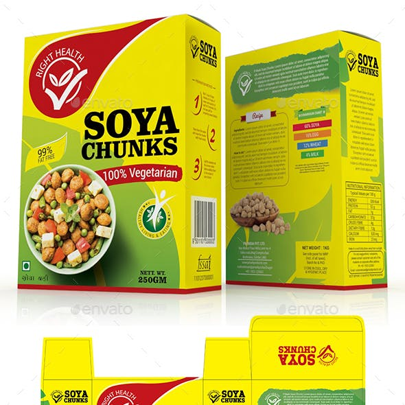 Soya Chunk Packaging Template