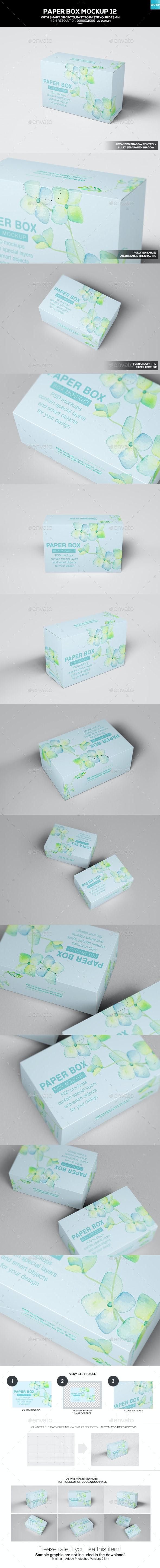 Paper Box Mockup 12 - Miscellaneous Packaging