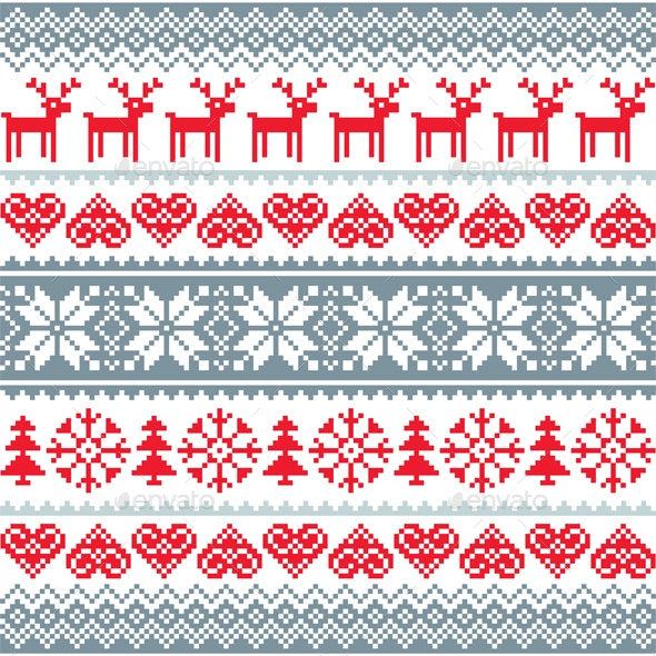 Winter Christmas Seamless Pattern - Christmas Seasons/Holidays