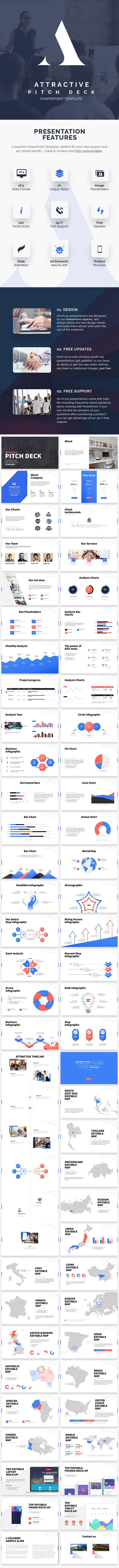 Attractive Pitch Deck - PowerPoint Presentation - Business PowerPoint Templates