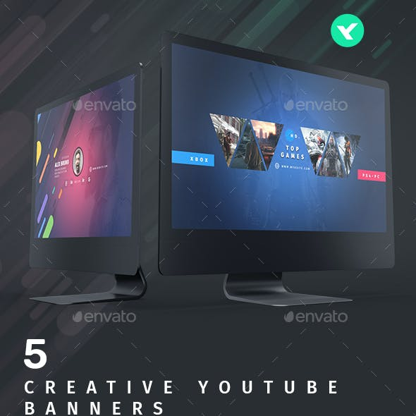 Youtube - 5 Creative Banners
