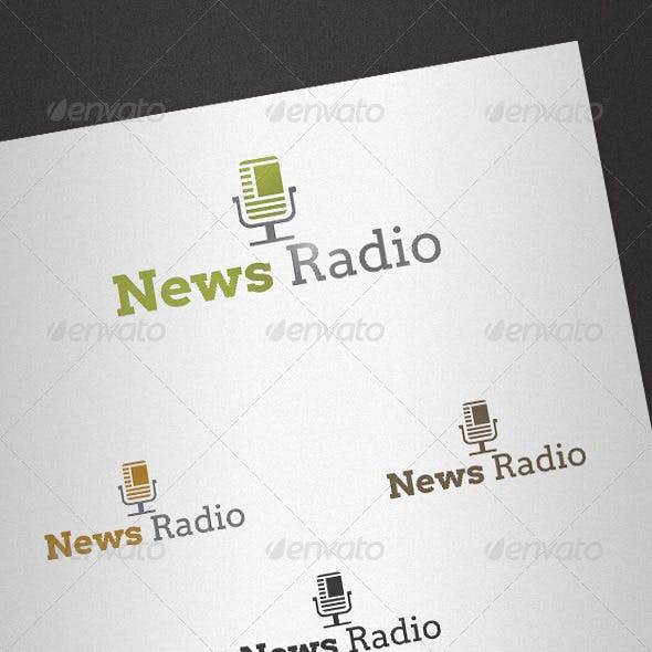 News Radio Logo Template