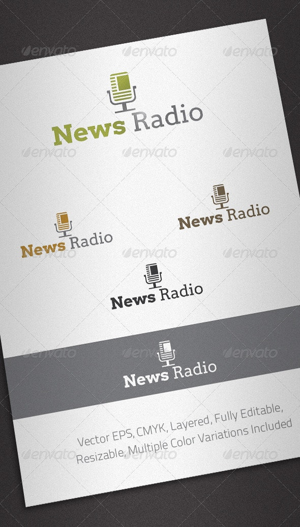 News Radio Logo Template - Objects Logo Templates