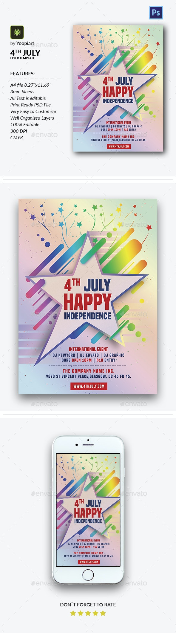 4th July Flyer Template - Events Flyers