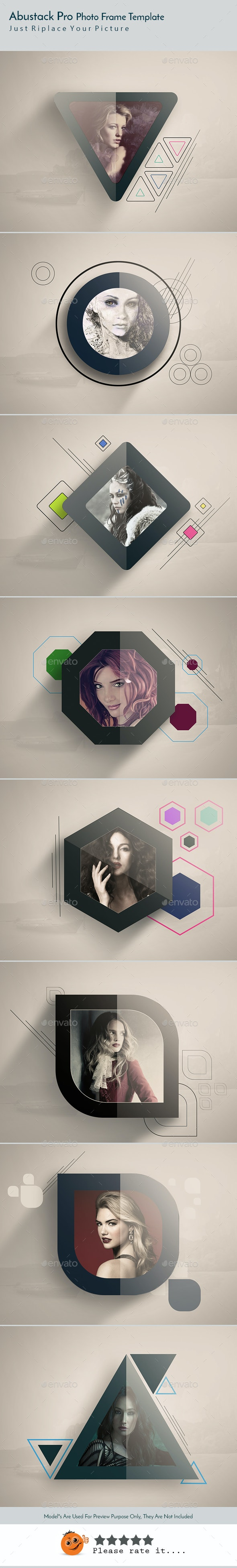 Abustrack Pro Photo Frame Template v06 - Photo Templates Graphics