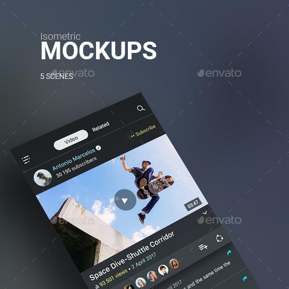 Isometric Mockups Phone 7