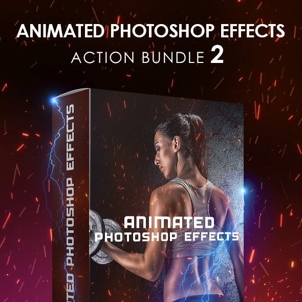 Animated Photoshop Effects Action Bundle 2