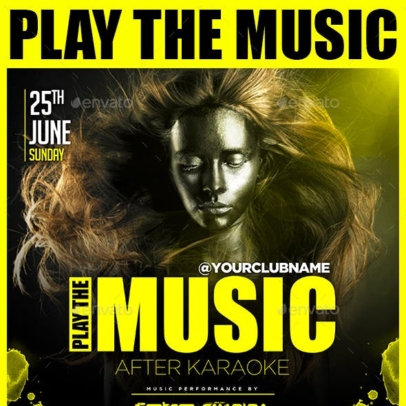 Play The Music Flyer Template