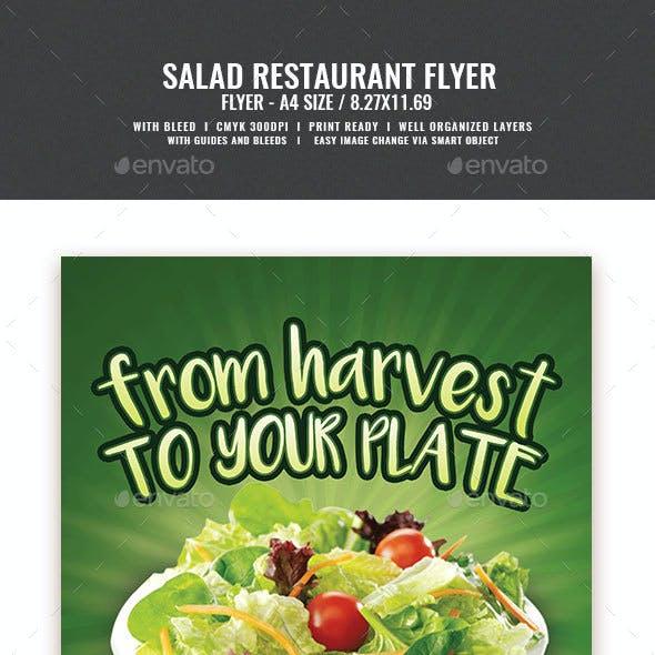 Salad Restaurant Flyer