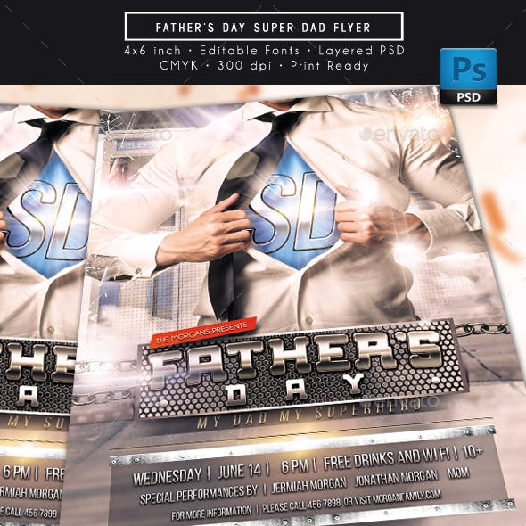 Father Day Super Dad Flyer