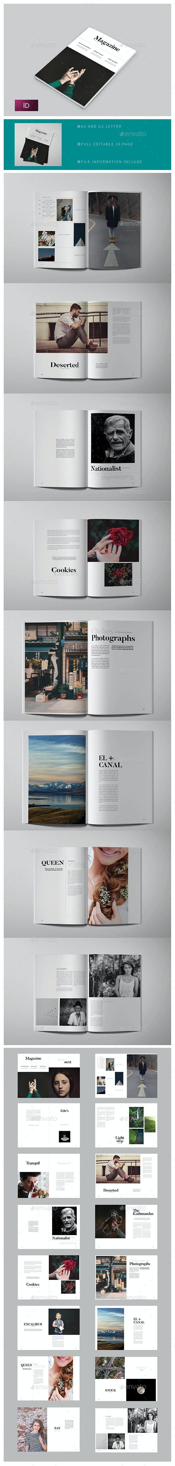 Magazine Template - Magazines Print Templates