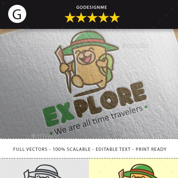 Explorer Game Logo Design