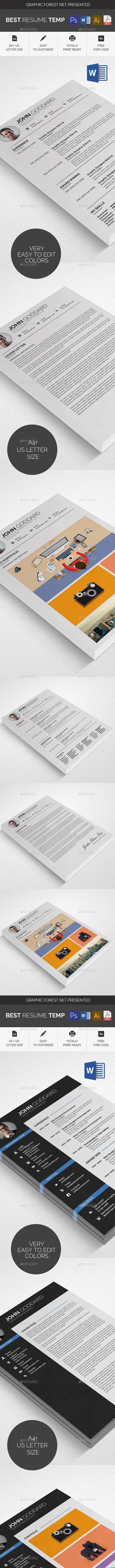 Clean Resume/CV Bundle - Resumes Stationery