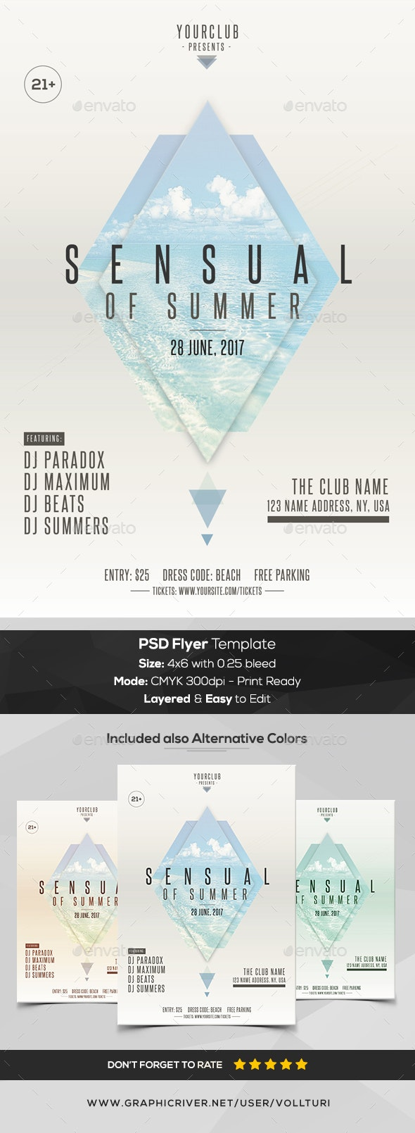 Sensual of Summer - PSD Flyer Template - Events Flyers