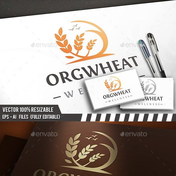 Wheat Crop Logo