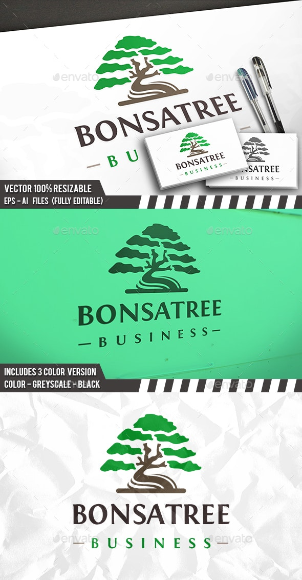 Bonsai Tree Logo Template - Nature Logo Templates