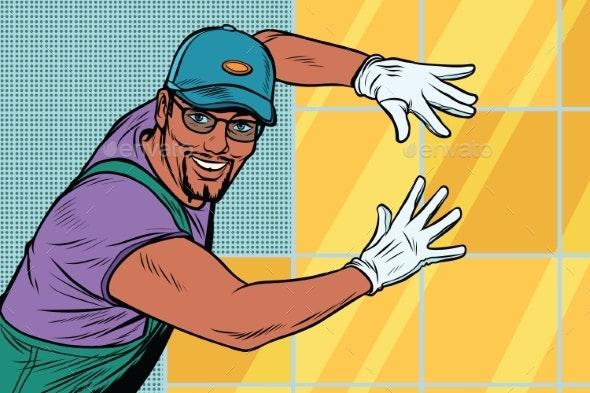 Worker Builder Tile - People Characters